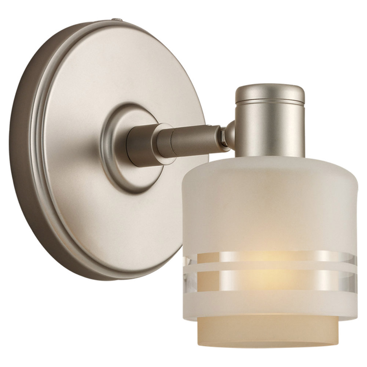 Sea Gull Lighting Groove 1 Light Wall / Bath / Vanity in Golden Pewter 44730-853 photo