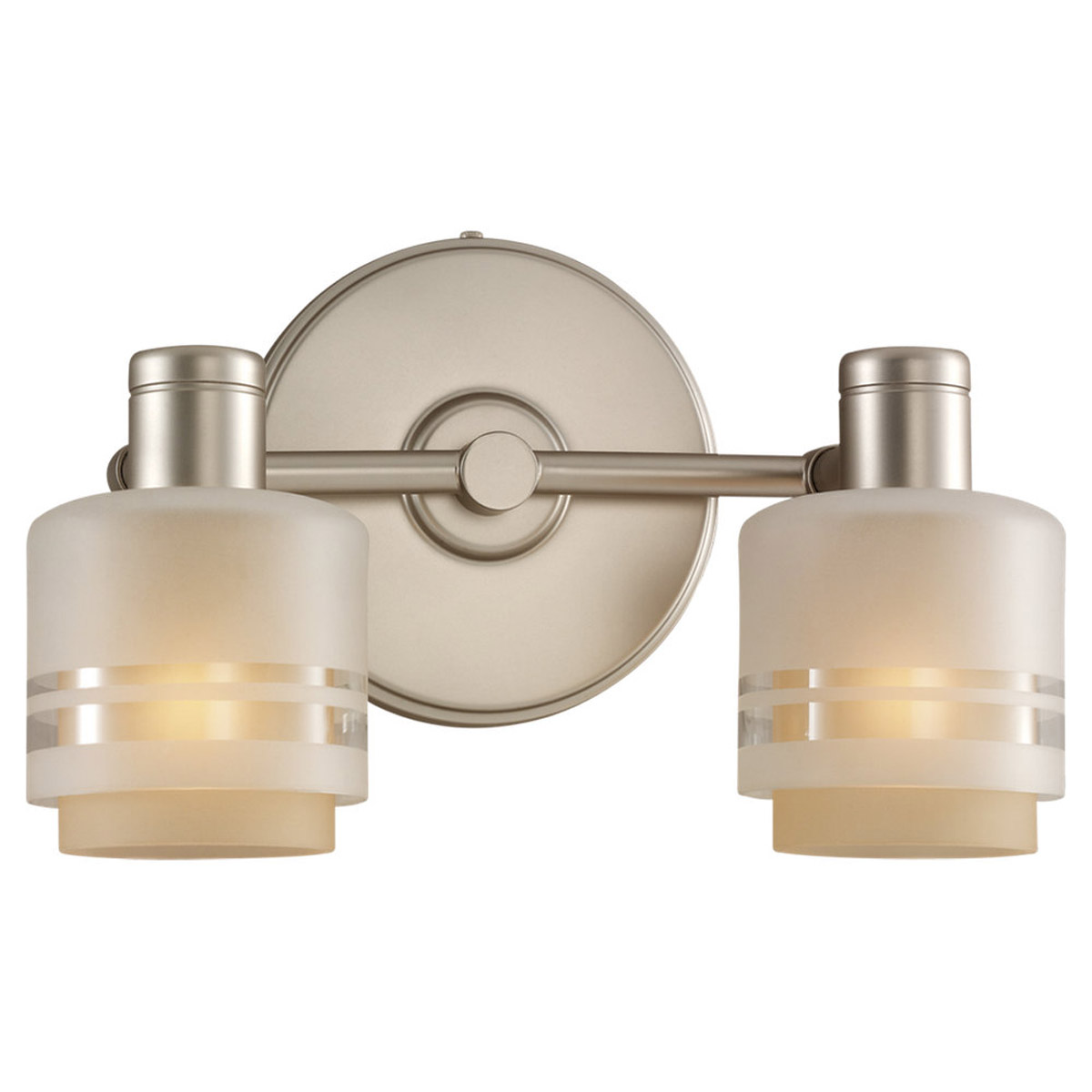 Sea Gull Lighting Groove 2 Light Wall / Bath / Vanity in Golden Pewter 44731-853 photo