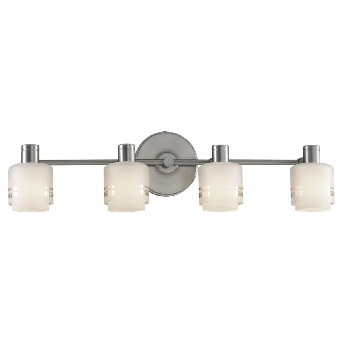 Sea Gull Lighting Groove 4 Light Wall / Bath / Vanity in Brushed Chrome 44733-863 photo
