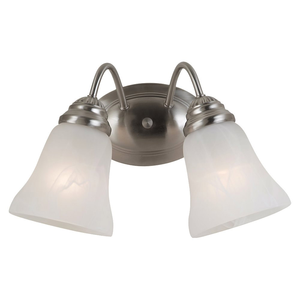Sea Gull Lighting Oaklyn 2 Light Bath Vanity in Brushed Nickel 44761-962
