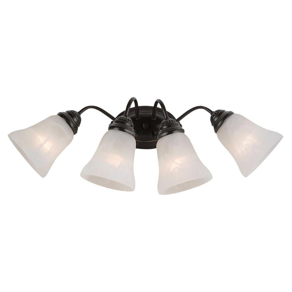 Sea Gull Lighting Oaklyn 4 Light Bath Vanity in Heirloom Bronze 44763-782
