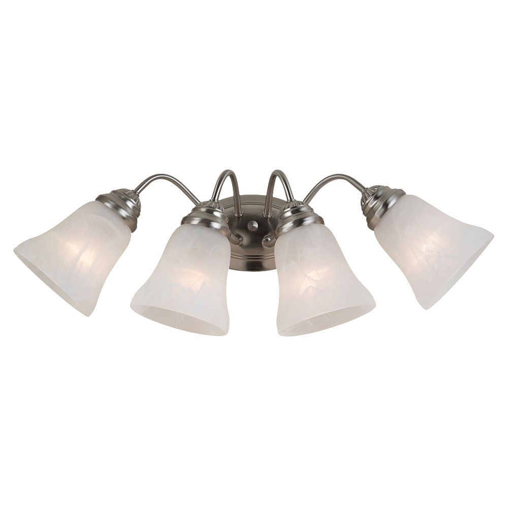 Sea Gull Lighting Oaklyn 4 Light Bath Vanity in Brushed Nickel 44763-962