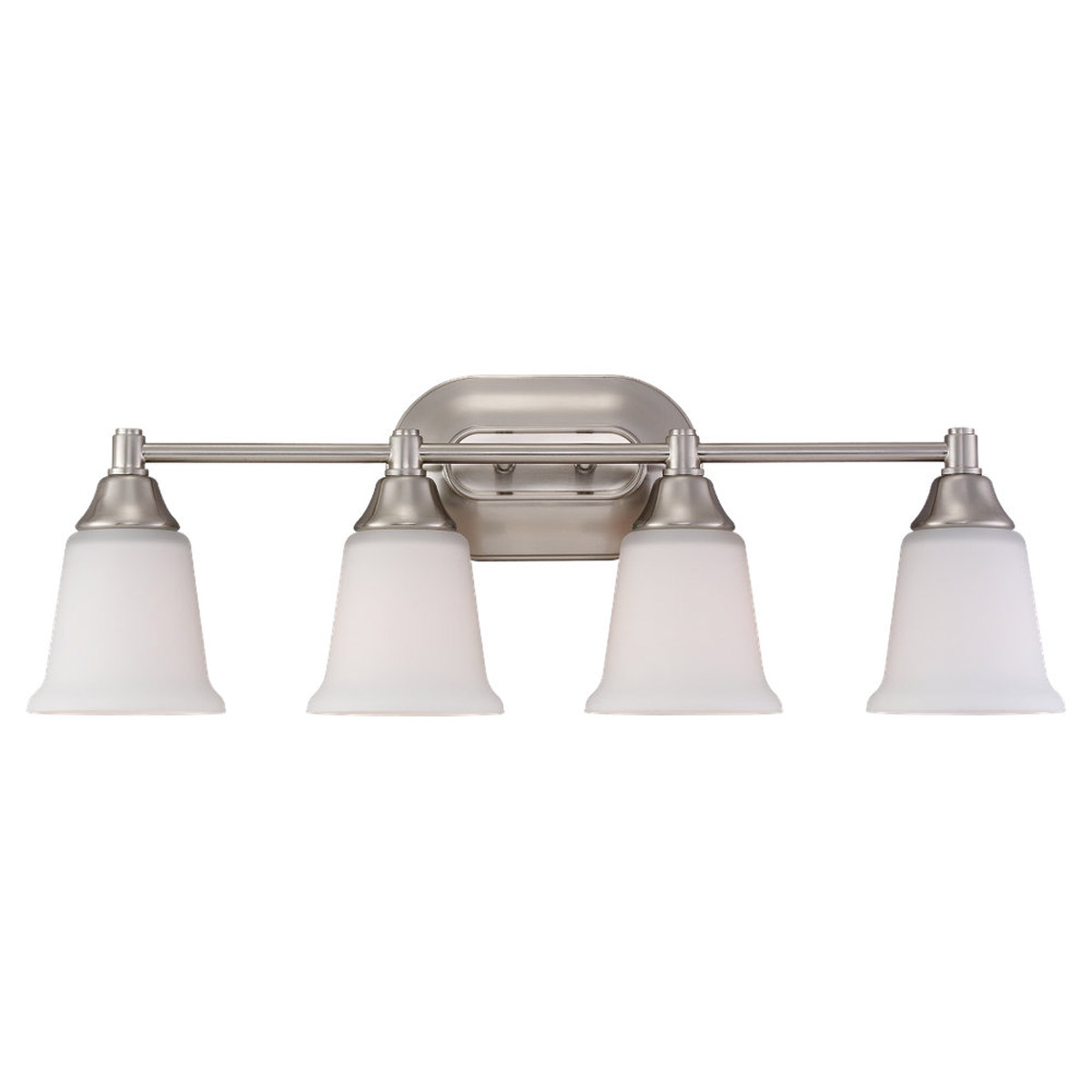 Sea Gull Lighting Belair 4 Light Wall / Bath / Vanity in Brushed Nickel 44793-962