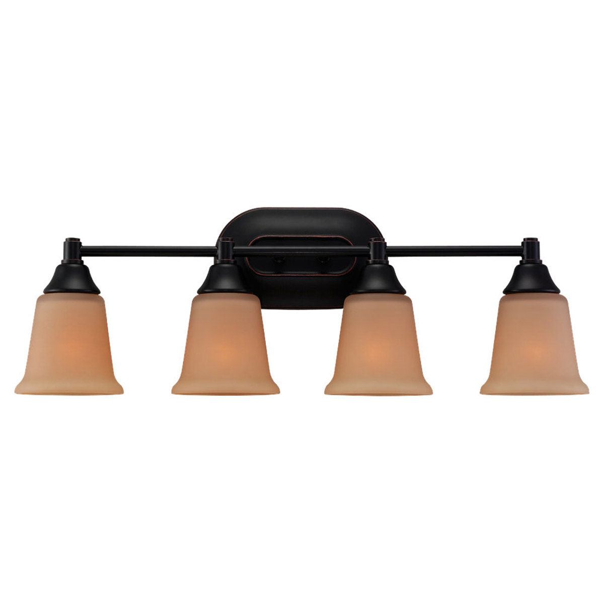 Sea Gull Lighting Belair 4 Light Fluorescent Wall/Bath/Vanity in Vintage Brown 44793BLE-862
