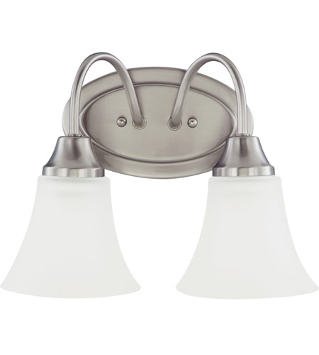 Sea Gull Holman 2 Light Bath Light in Brushed Nickel 44806-962