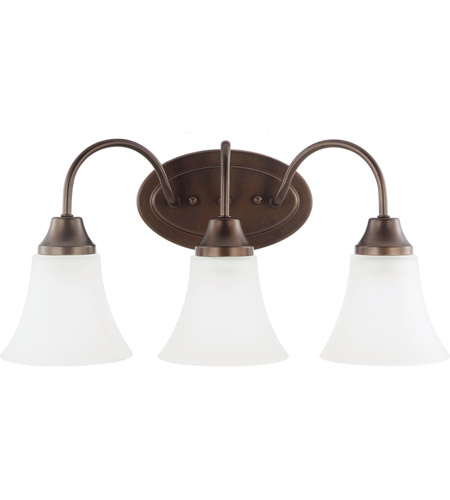 Sea Gull Holman 3 Light Bath Light in Bell Metal Bronze 44807-827