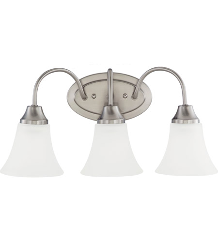 Sea Gull Holman 3 Light Bath Light in Brushed Nickel 44807-962