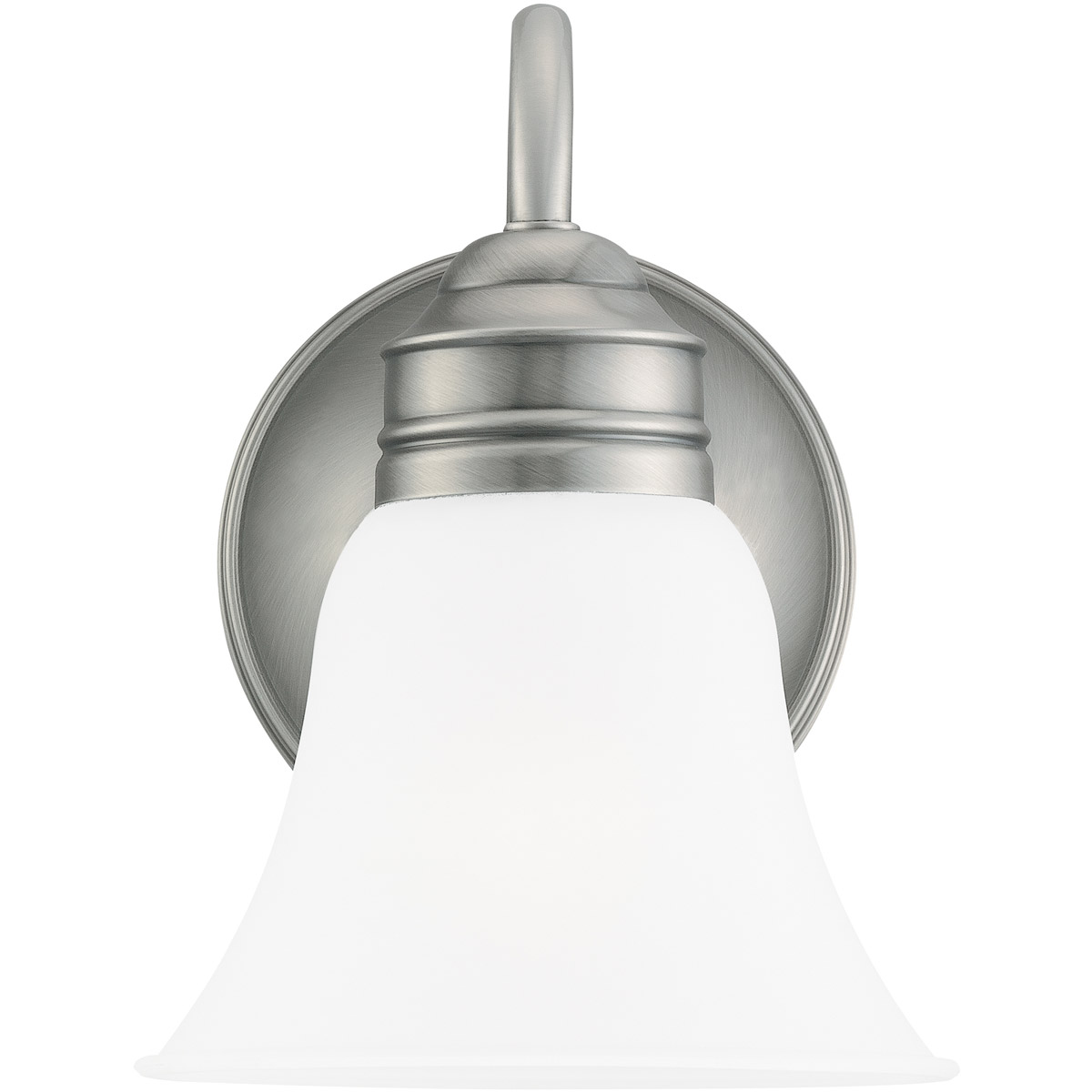 Sea Gull 44850-965 Gladstone 1 Light 7 inch Antique Brushed Nickel Bath Vanity Wall Light in Satin Etched Glass photo