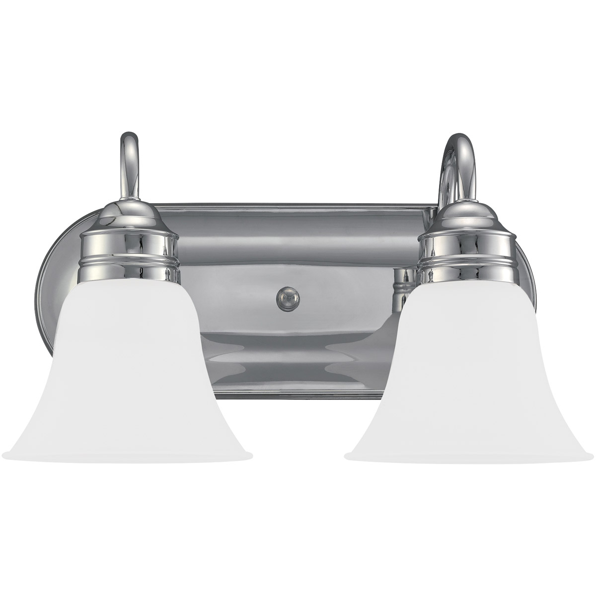 Sea Gull 44851-05 Gladstone 2 Light 15 inch Chrome Bath Vanity Wall Light in Satin Etched Glass photo
