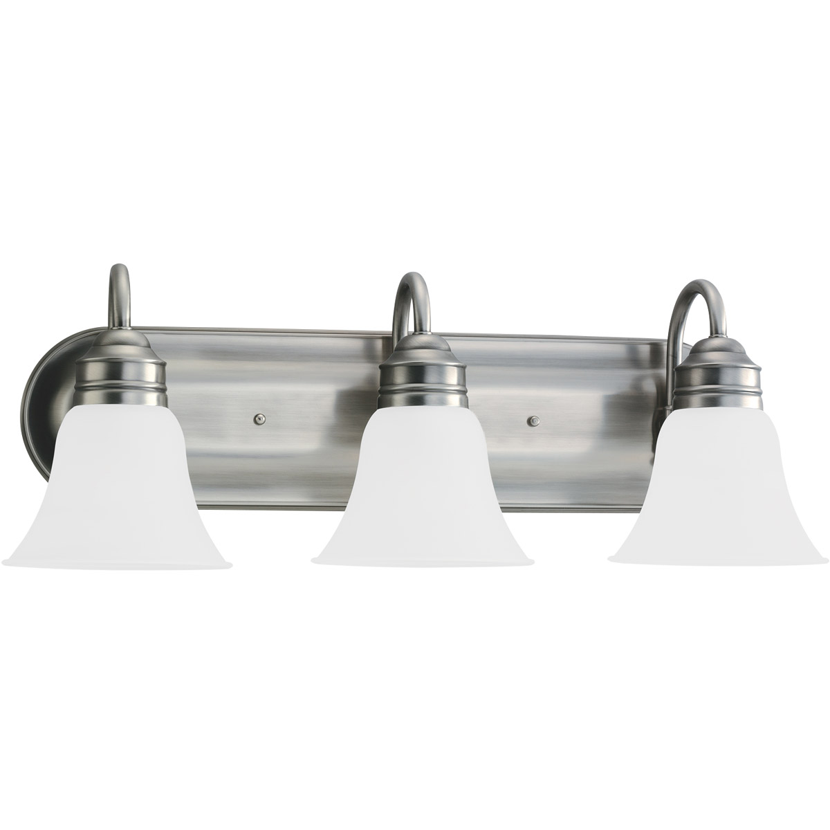 Sea Gull 44852-965 Gladstone 3 Light 24 inch Antique Brushed Nickel Bath Vanity Wall Light in Satin Etched Glass photo