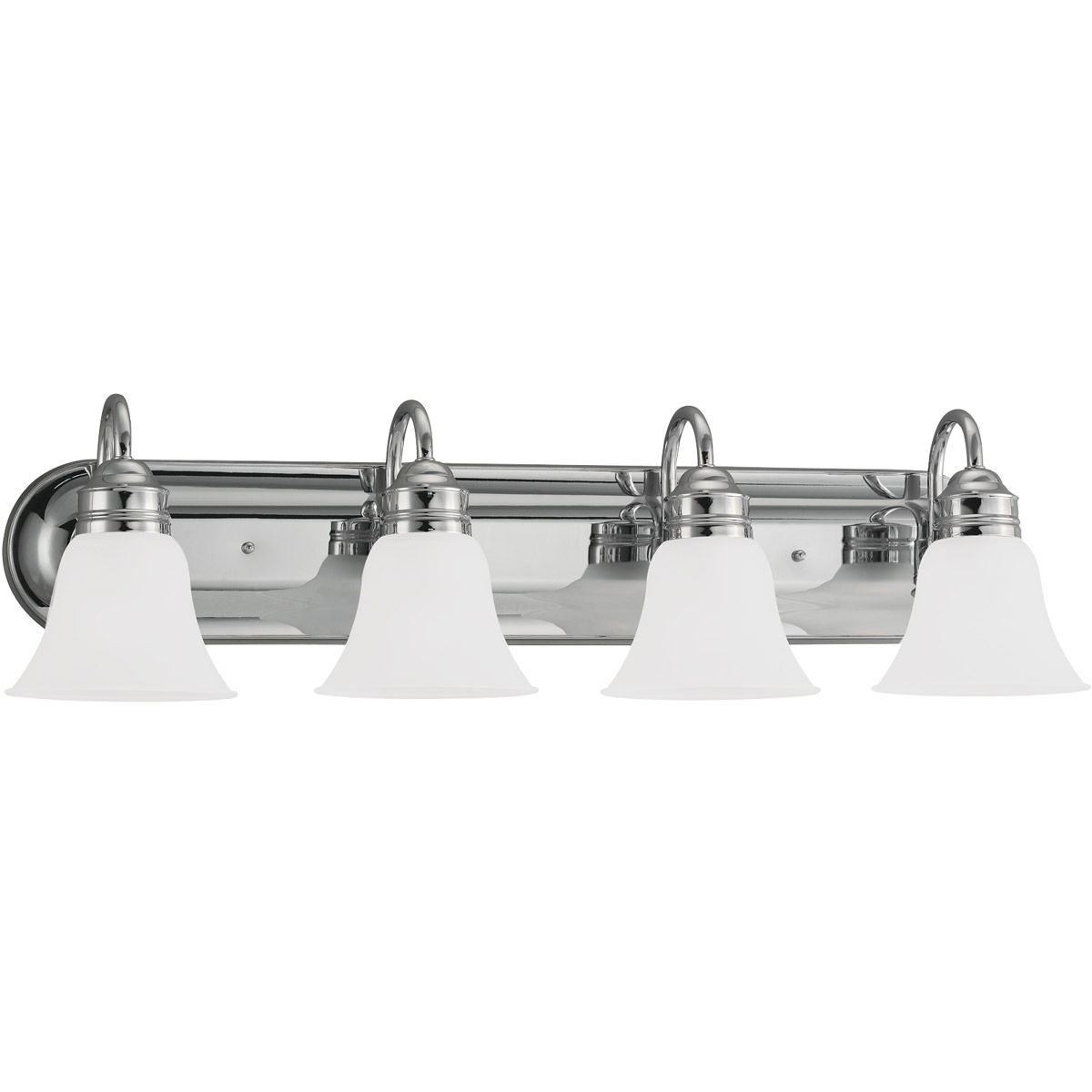 Sea Gull 44853-05 Gladstone 4 Light 33 inch Chrome Bath Vanity Wall Light in Satin Etched Glass photo