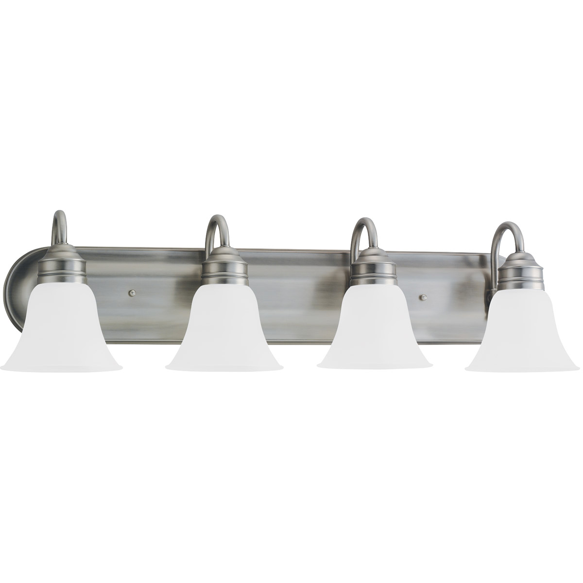 Sea Gull 44853-965 Gladstone 4 Light 33 inch Antique Brushed Nickel Bath Vanity Wall Light in Satin Etched Glass photo