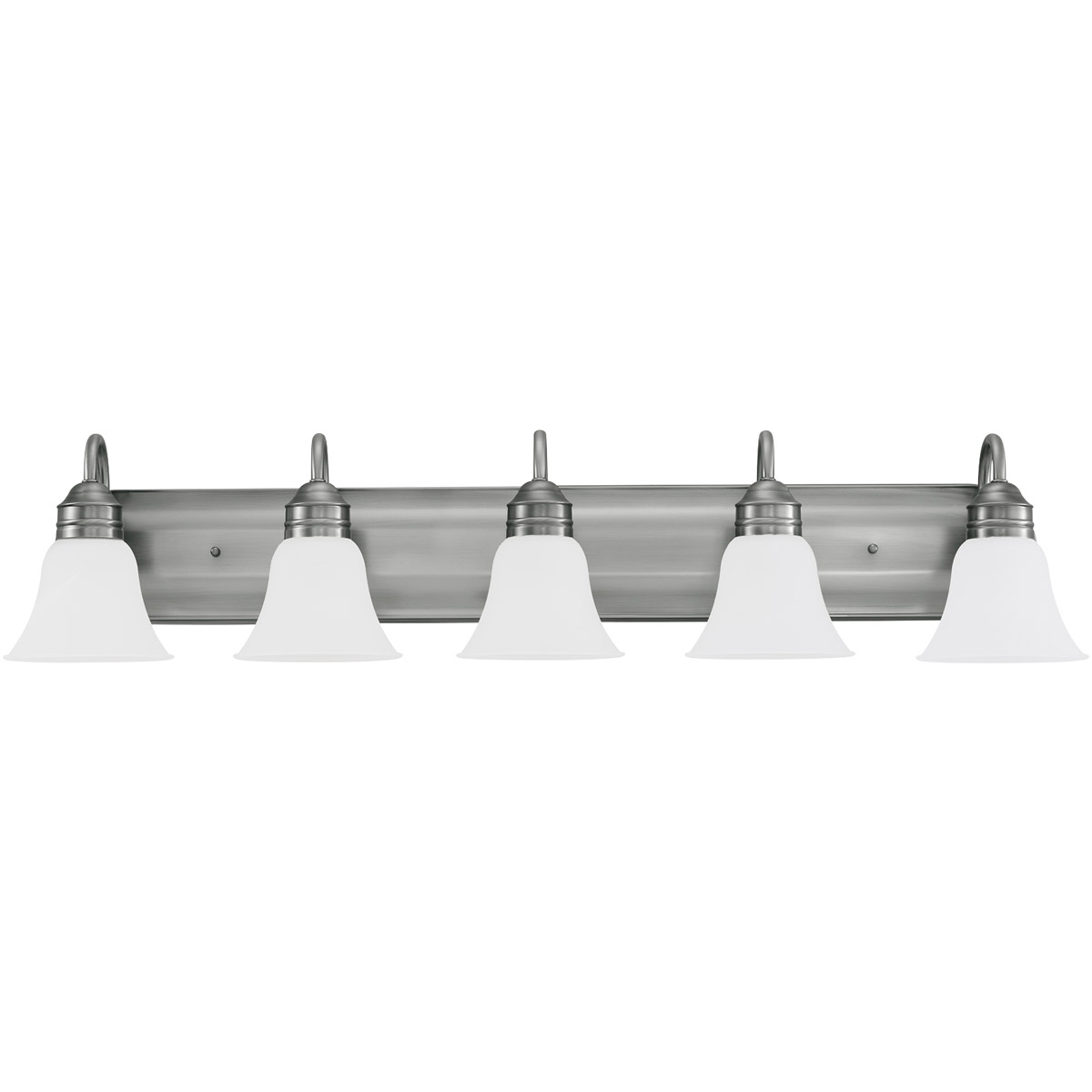 Sea Gull 44854-965 Gladstone 5 Light 41 inch Antique Brushed Nickel Bath Vanity Wall Light in Satin Etched Glass, Standard photo
