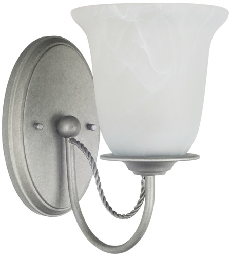 Sea Gull 44891BLE-57 Plymouth 1 Light 5 inch Weathered Pewter Wall Sconce Wall Light in Fluorescent photo