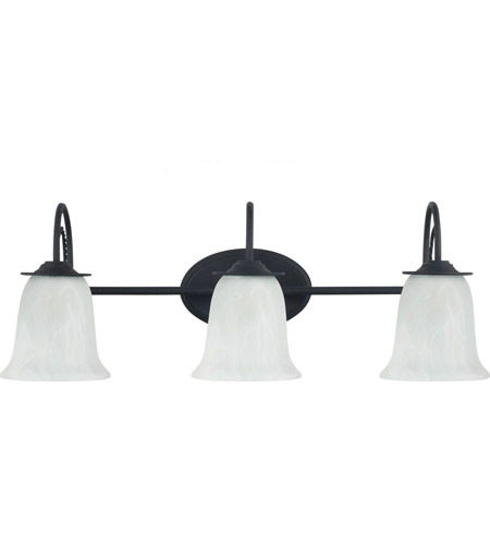 Sea Gull Plymouth 3 Light Bath Light in Blacksmith 44893-839
