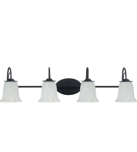 Sea Gull Plymouth 4 Light Bath Light in Blacksmith 44894-839
