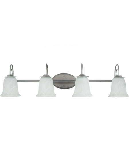 Sea Gull 44894BLE-57 Plymouth 4 Light 37 inch Weathered Pewter Bath Light Wall Light in Fluorescent photo