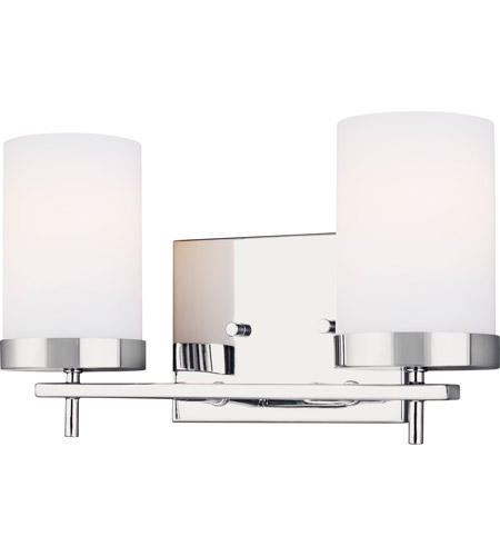 Zire 2 Light 14 Inch Chrome Bath Vanity Wall Light