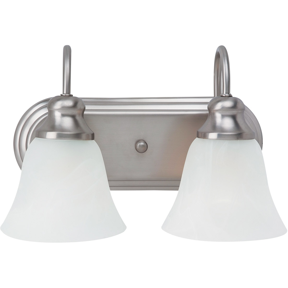 Sea Gull Lighting Windgate 2 Light Bath Vanity in Brushed Nickel 44940-962