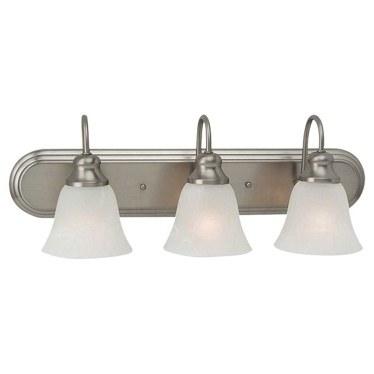 Sea Gull Lighting Windgate 3 Light Bath Vanity in Brushed Nickel 44941BLE-962