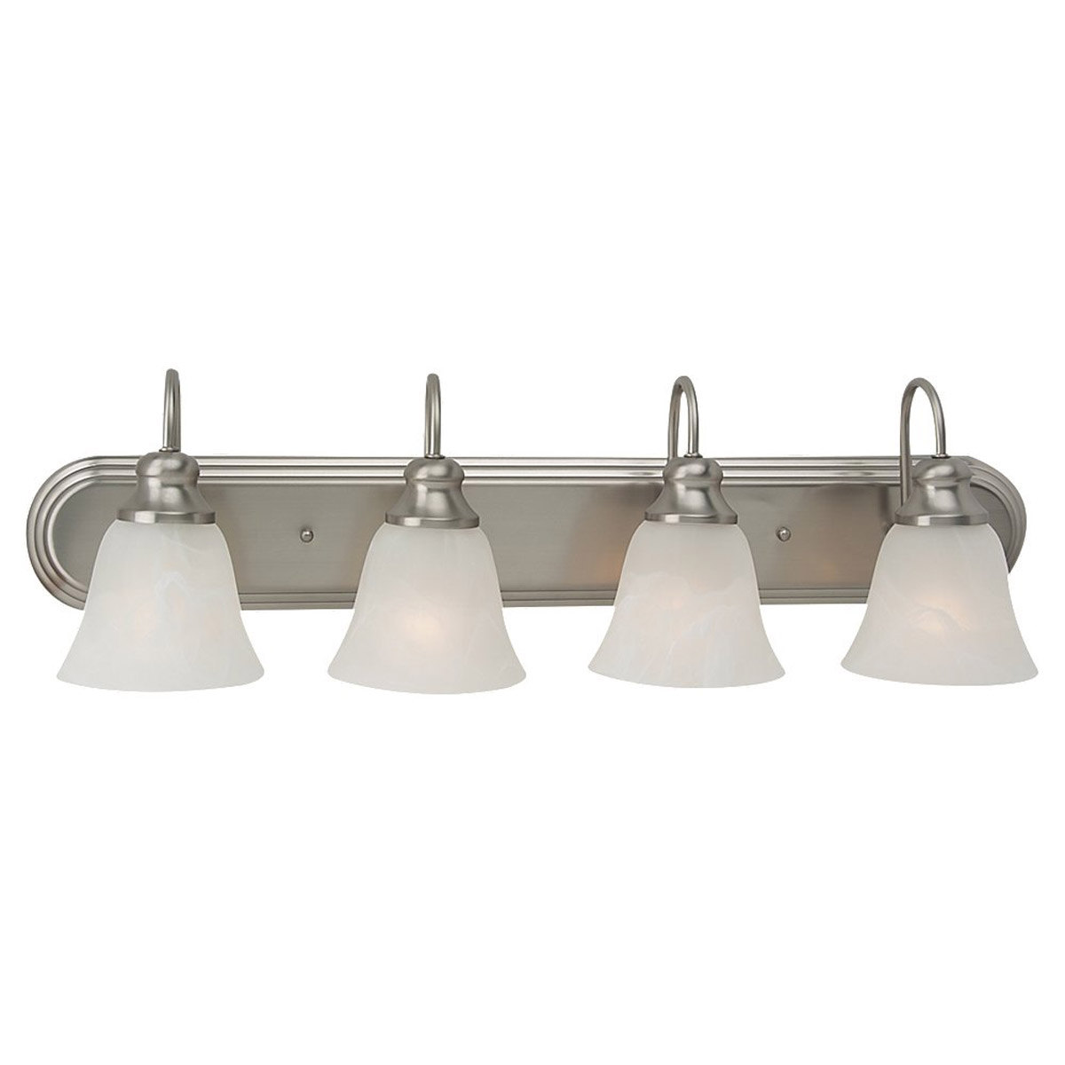 Sea Gull Lighting Windgate 4 Light Bath Vanity in Brushed Nickel 44942BLE-962