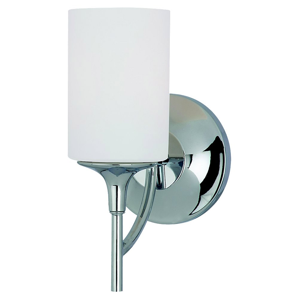 Sea Gull 44952-05 Stirling 1 Light 6 inch Chrome Bath Vanity Wall Light photo