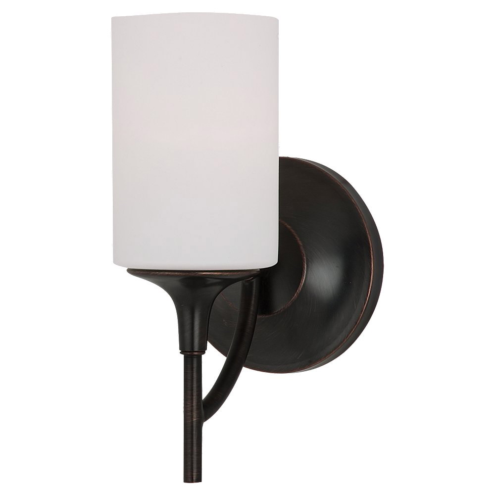 Sea Gull 44952-710 Stirling 1 Light 6 inch Burnt Sienna Bath Vanity Wall Light photo