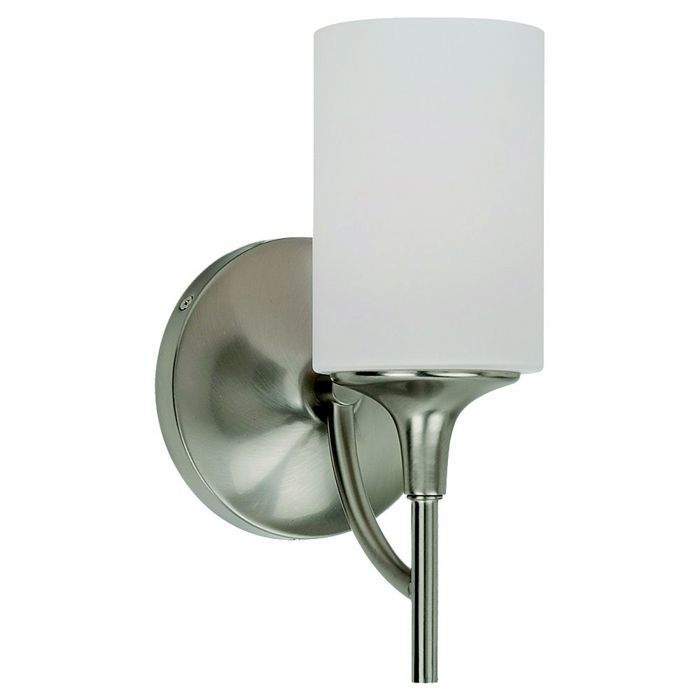 Sea Gull Lighting Stirling 1 Light Bath Vanity in Brushed Nickel 44952-962