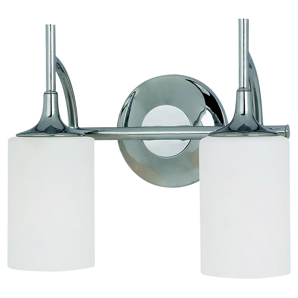 Sea Gull Lighting Stirling 2 Light Bath Vanity in Chrome 44953-05