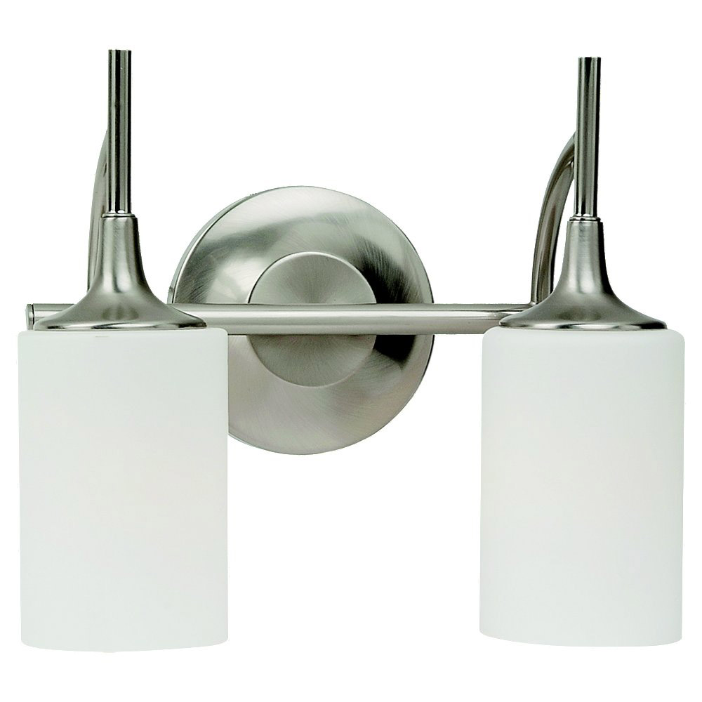 Sea Gull Lighting Stirling 2 Light Bath Vanity in Brushed Nickel 44953-962