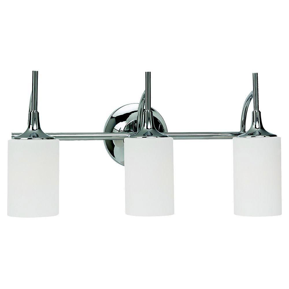 Sea Gull Lighting Stirling 3 Light Bath Vanity in Chrome 44954-05