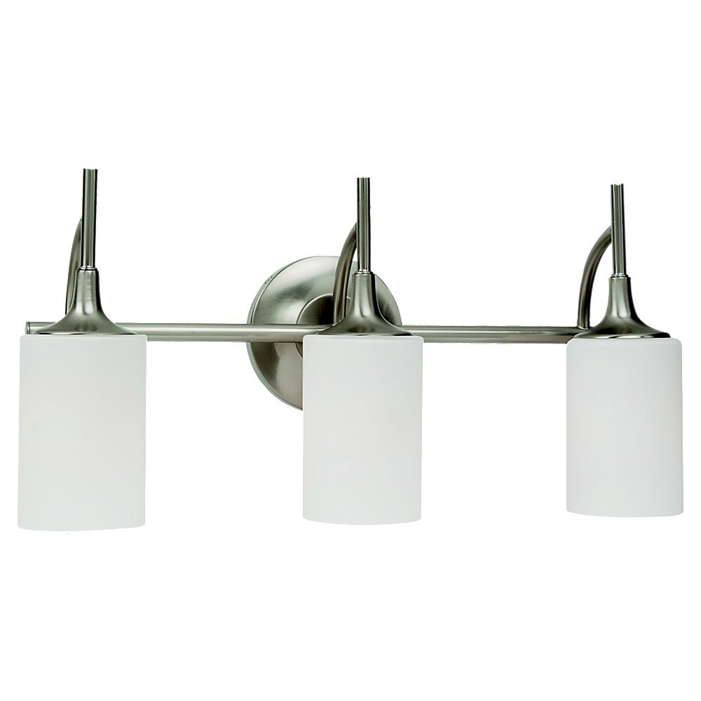 Sea Gull Lighting Stirling 3 Light Bath Vanity in Brushed Nickel 44954-962 photo