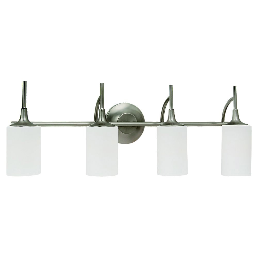 Sea Gull Lighting Stirling 4 Light Bath Vanity in Brushed Nickel 44955-962