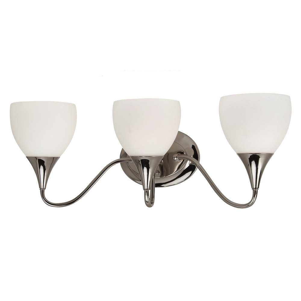 Sea Gull 44973BLE-841 Solana 3 Light 27 inch Polished Nickel Bath Vanity Wall Light in Fluorescent photo