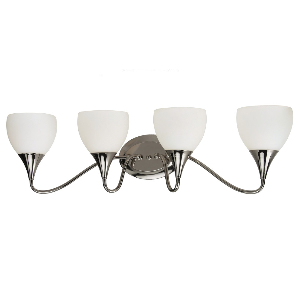 Sea Gull Lighting Solana 4 Light Bath Vanity in Polished Nickel 44974BLE-841