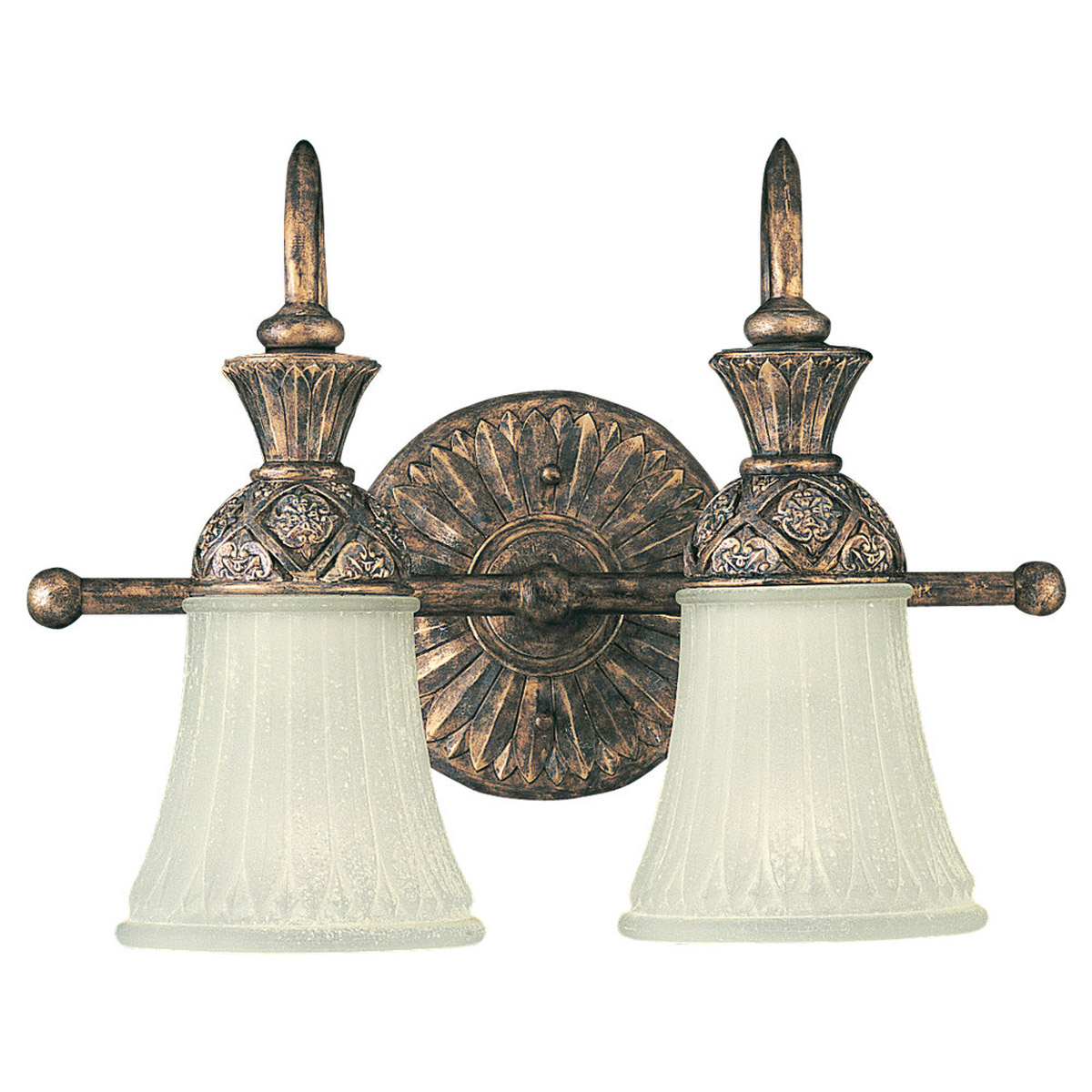 Sea Gull Lighting Highlands 2 Light Bath Vanity in Regal Bronze 47251-758
