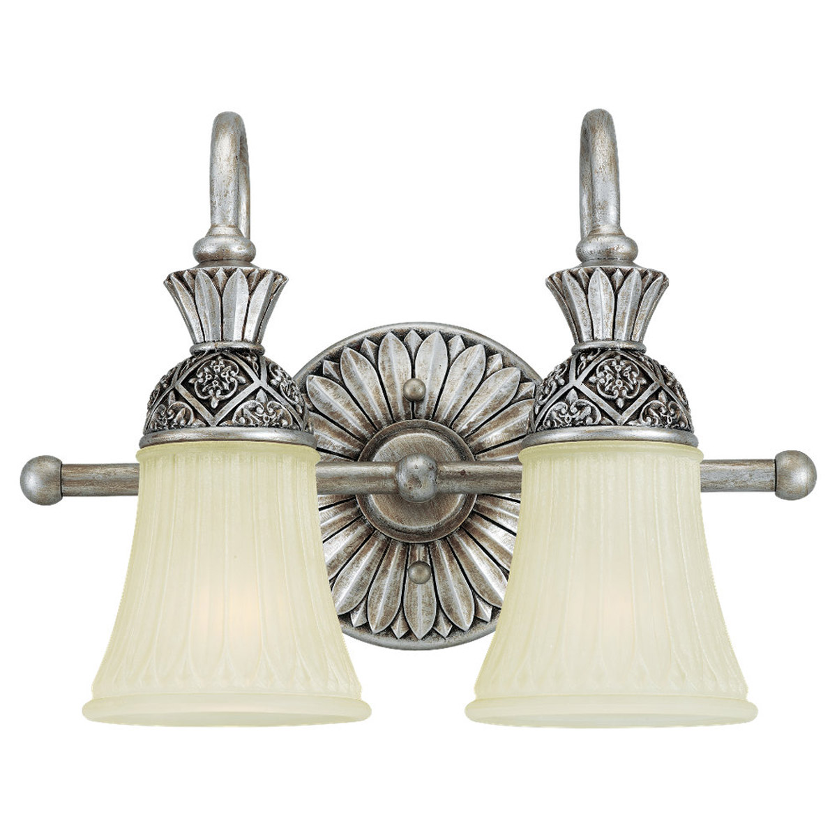 Sea Gull Lighting Highlands 2 Light Bath Vanity in Palladium 47251-824