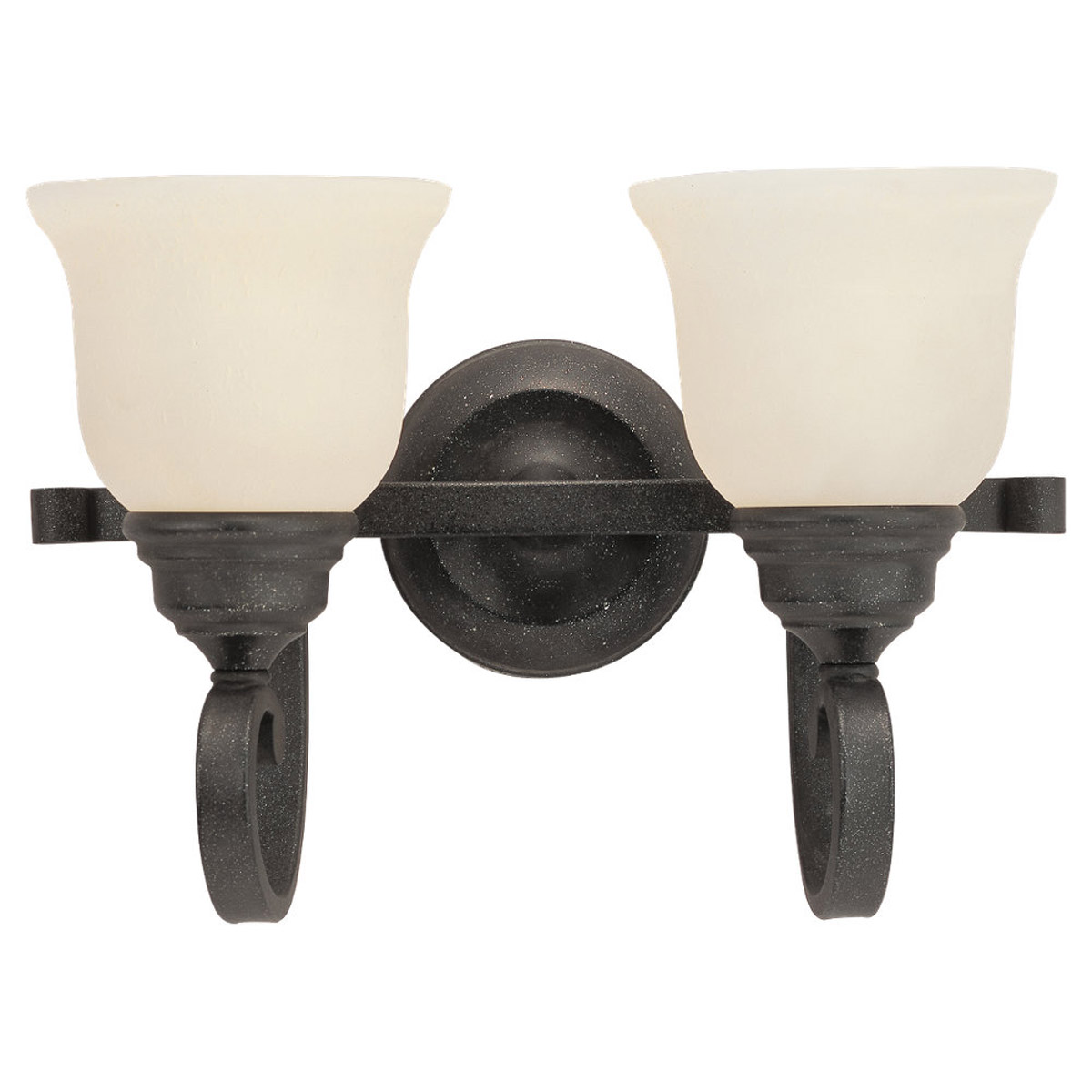 Sea Gull Lighting Serenity 2 Light Bath Vanity in Weathered Iron 49059BLE-07 photo