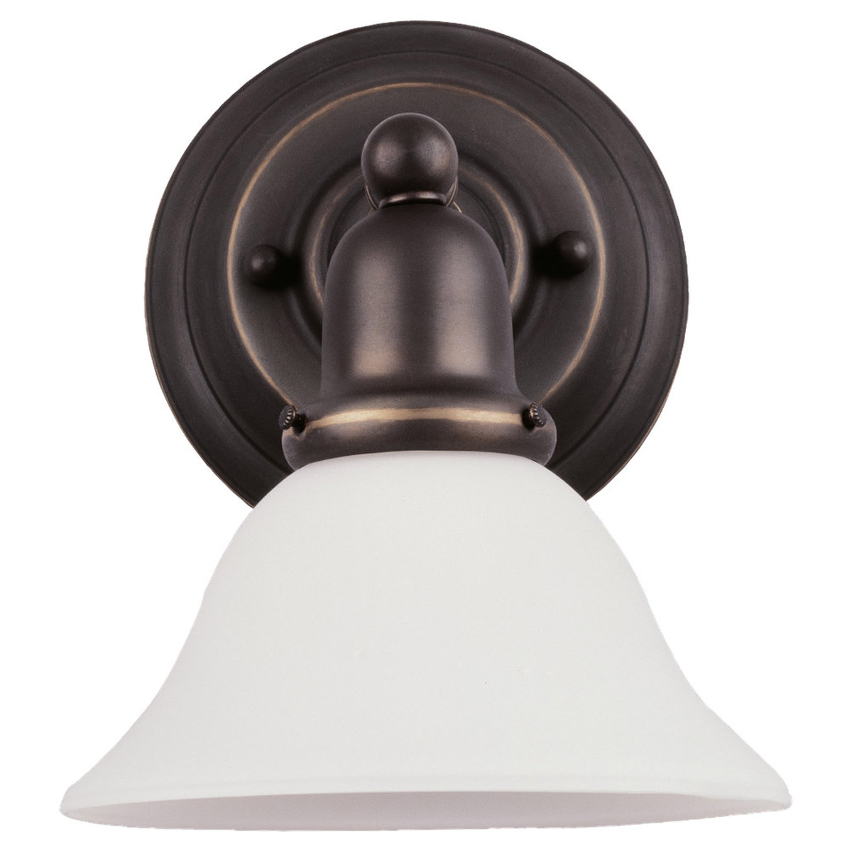 Sea Gull 49063BLE-782 Sussex 1 Light 8 inch Heirloom Bronze Bath Vanity Wall Light in Satin Etched Glass photo