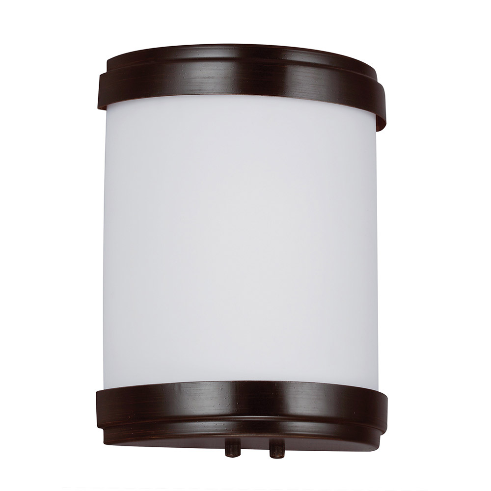 Sea Gull 49334BLE-710 ADA 1 Light 8 inch Burnt Sienna Bath Sconce Wall Light photo