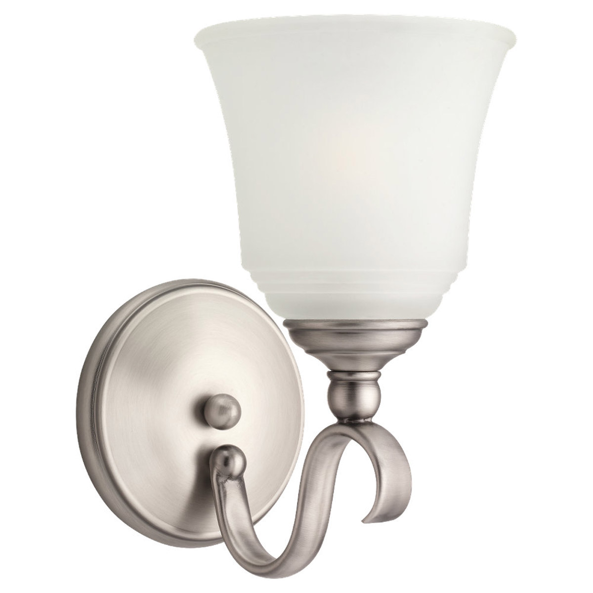 Sea Gull 49380BLE-965 Parkview 1 Light 6 inch Antique Brushed Nickel Bath Vanity Wall Light in Satin Etched Glass photo