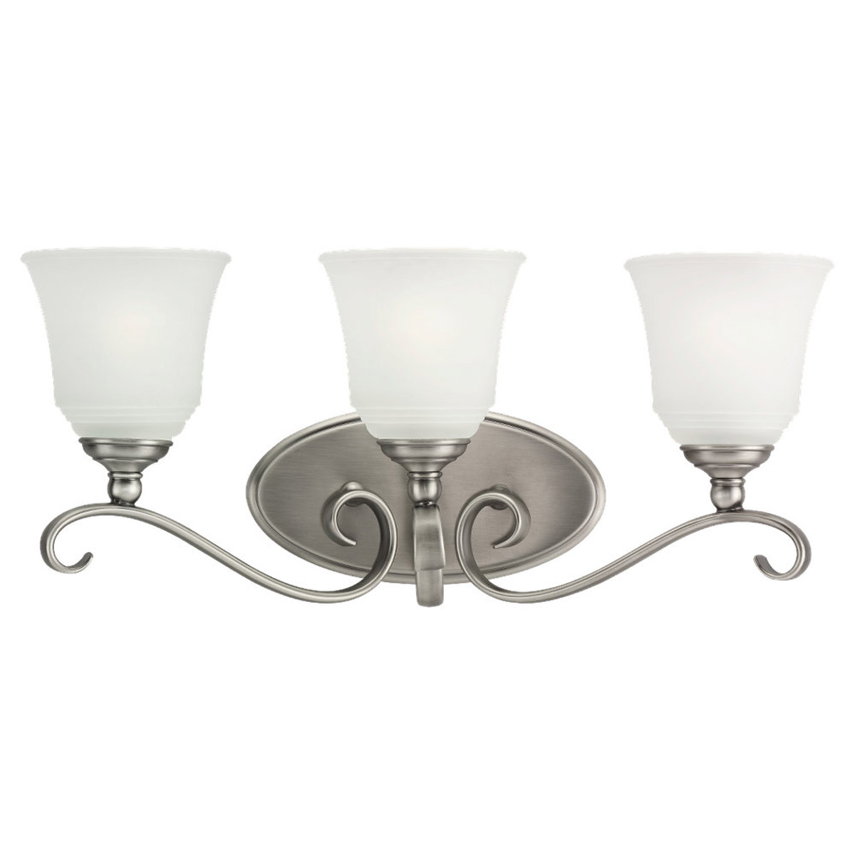 Sea Gull Lighting Parkview 3 Light Bath Vanity in Antique Brushed Nickel 49382BLE-965