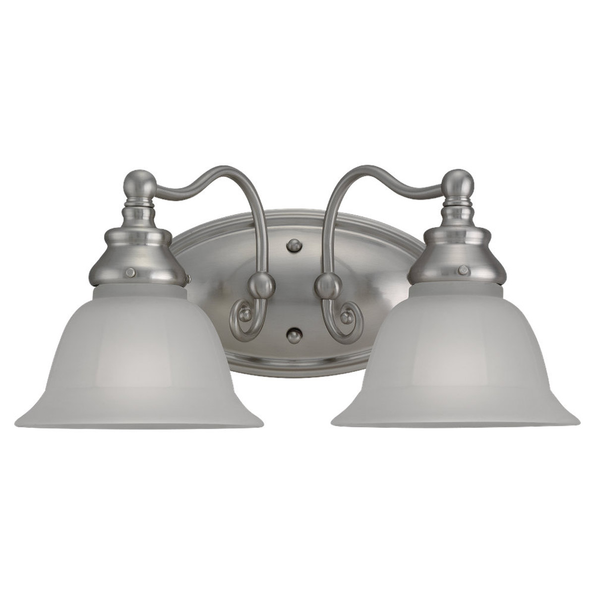 Sea Gull Lighting Canterbury 2 Light Bath Vanity in Brushed Nickel 49651BLE-962