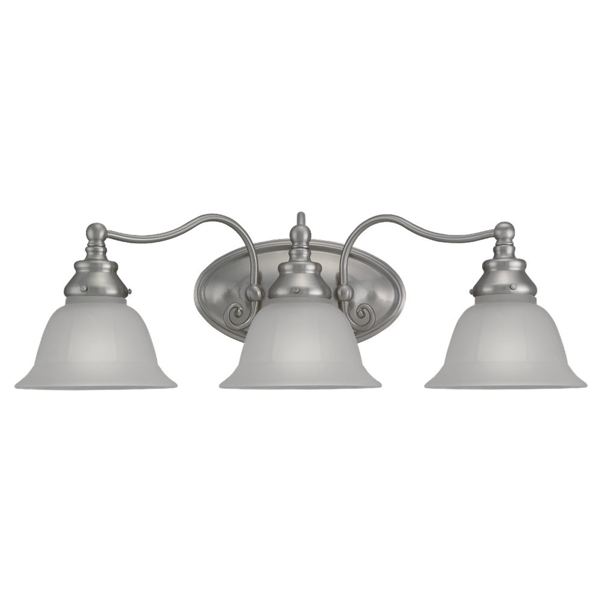 Sea Gull Lighting Canterbury 3 Light Bath Vanity in Brushed Nickel 49652BLE-962