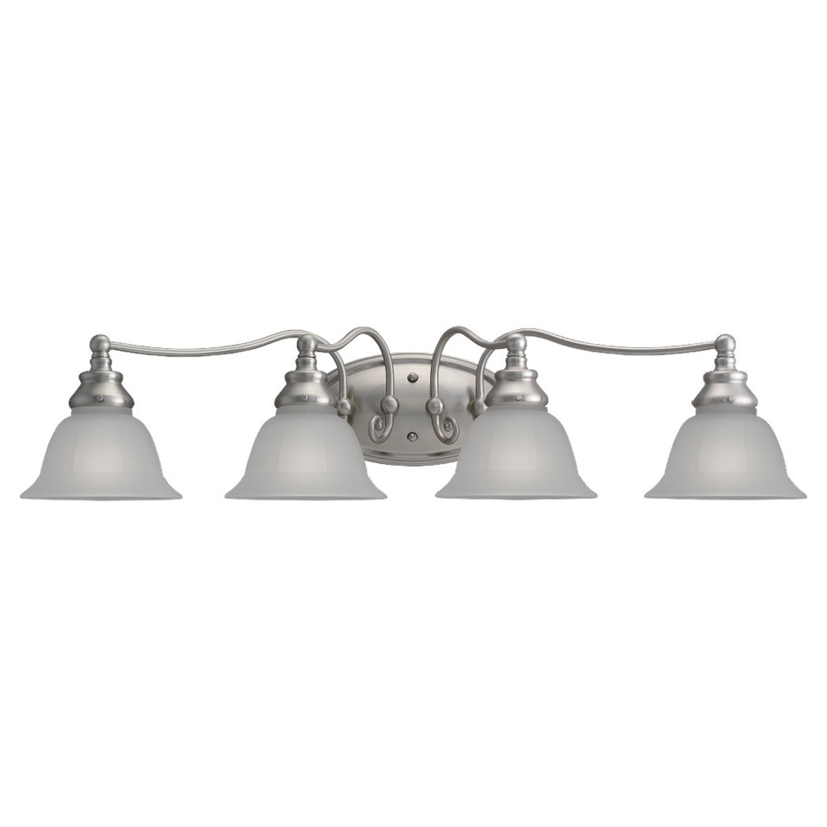 Sea Gull Lighting Canterbury 4 Light Bath Vanity in Brushed Nickel 49653BLE-962