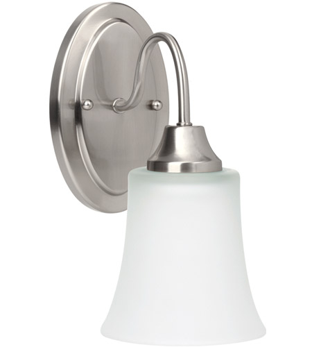 Sea Gull Holman 1 Light Wall Sconce in Brushed Nickel 49806BLE-962