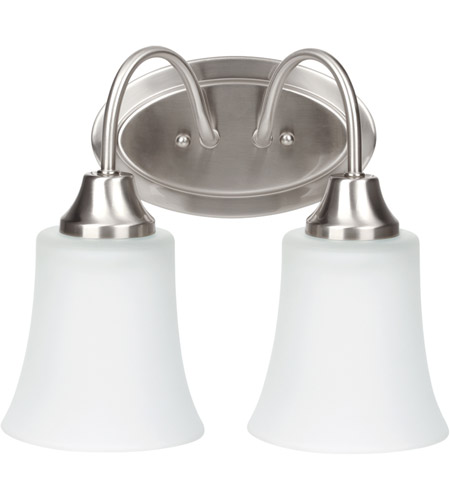 Sea Gull Holman 2 Light Bath Light in Brushed Nickel 49807BLE-962 photo