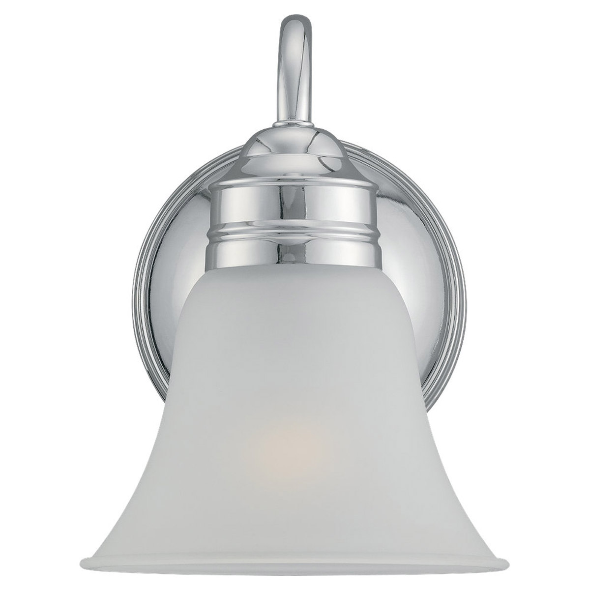 Sea Gull 49850BLE-05 Gladstone 1 Light 7 inch Chrome Bath Vanity Wall Light in Satin Etched Glass photo
