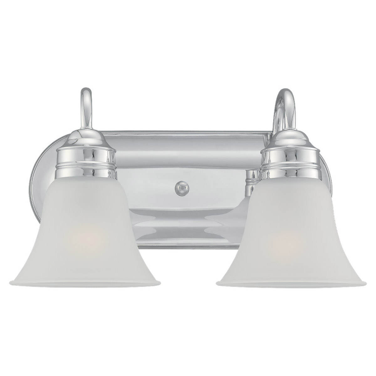 Sea Gull 49851BLE-05 Gladstone 2 Light 15 inch Chrome Bath Vanity Wall Light in Satin Etched Glass photo
