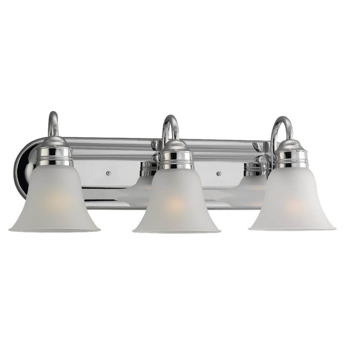 Sea Gull 49852BLE-05 Gladstone 3 Light 24 inch Chrome Bath Vanity Wall Light in Satin Etched Glass photo